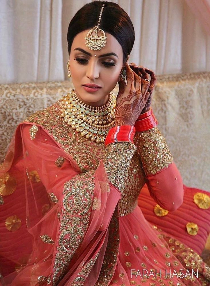 Indian bridal wear pink images for Punjabi wedding dresses online
