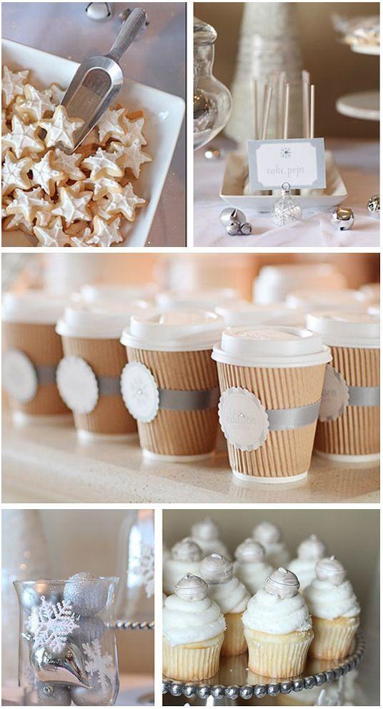 Mesa de regalo para boda de invierno
