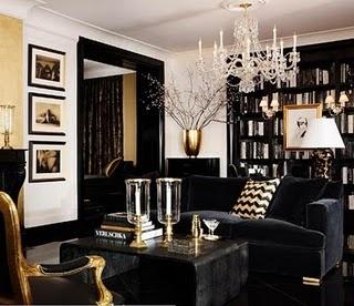 Snyggt med svart och guld