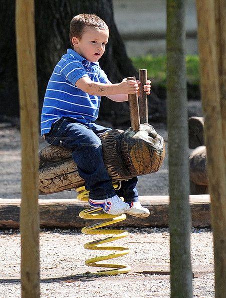 Cruz Beckham - David Beckham Sons at the Park