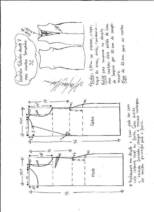 Pin de Silvana Battiato en Costura | Patrones de vestidos, Costura y ...