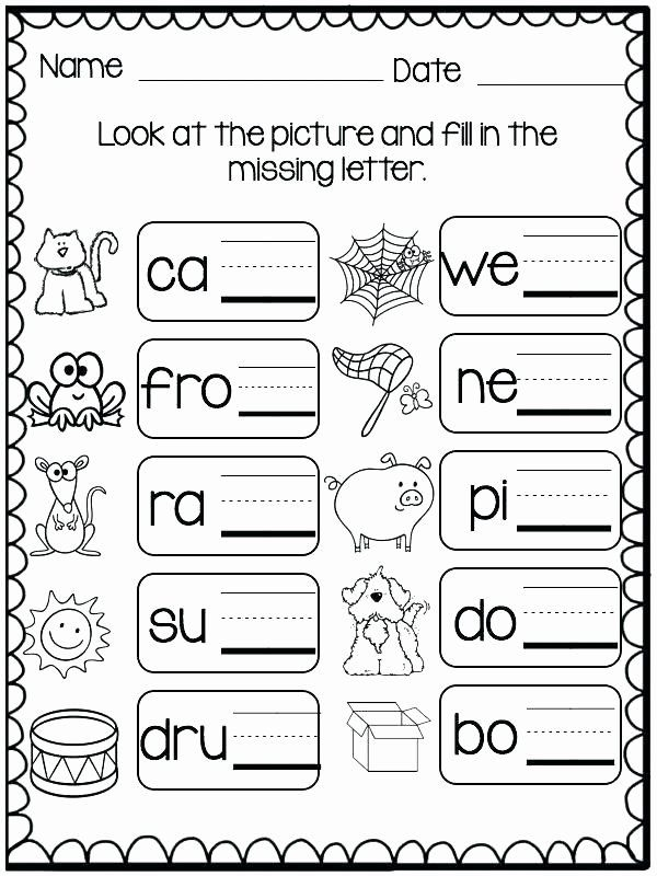 Missing Letters Worksheets For Kindergarten Three Letter Words Worksheets Free In 2020 Phonics Kindergarten Phonics Phonics Worksheets