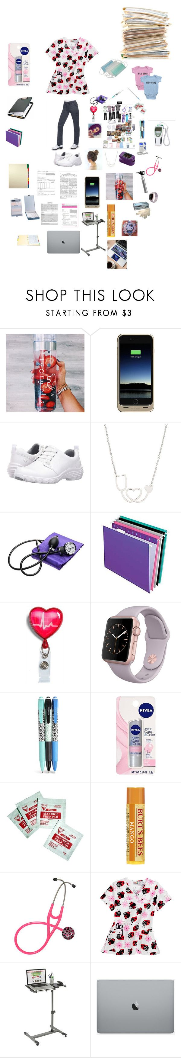 """NICU Nurse💜"" by kingxkylie ❤ liked on Polyvore featuring Mophie, Nurse Mates, Lab, Pendaflex, Vera Bradley, Nivea and UltraScope"