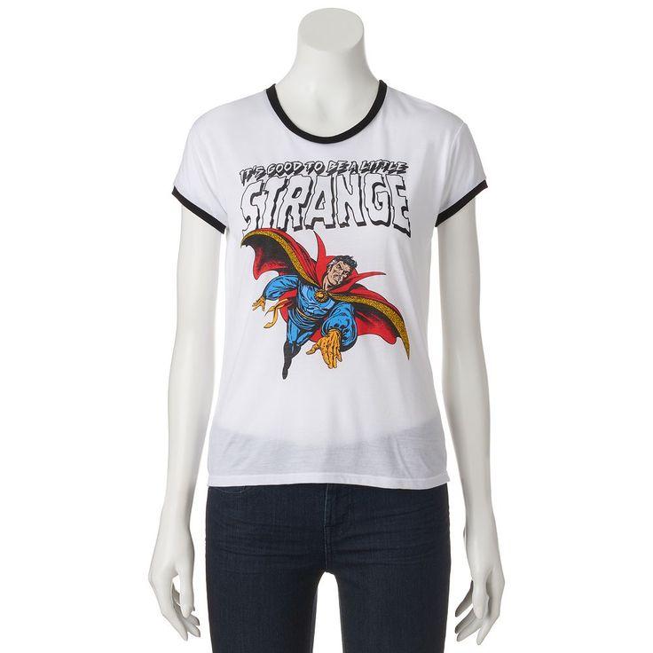 Juniors' Marvel Doctor Strange Ringer Graphic Tee, Teens, Size: Medium, Ovrfl Oth