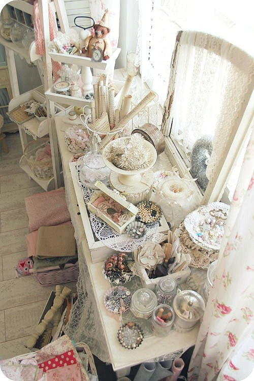 So nice storage for so nice dreamy stuff: Nice Storage, Crafts Rooms, Shabby Chic, So Pretty, Pretty Pastel, Pretty Crafts, Chic Crafts, Nice Dreamy, Dreamy Stuff