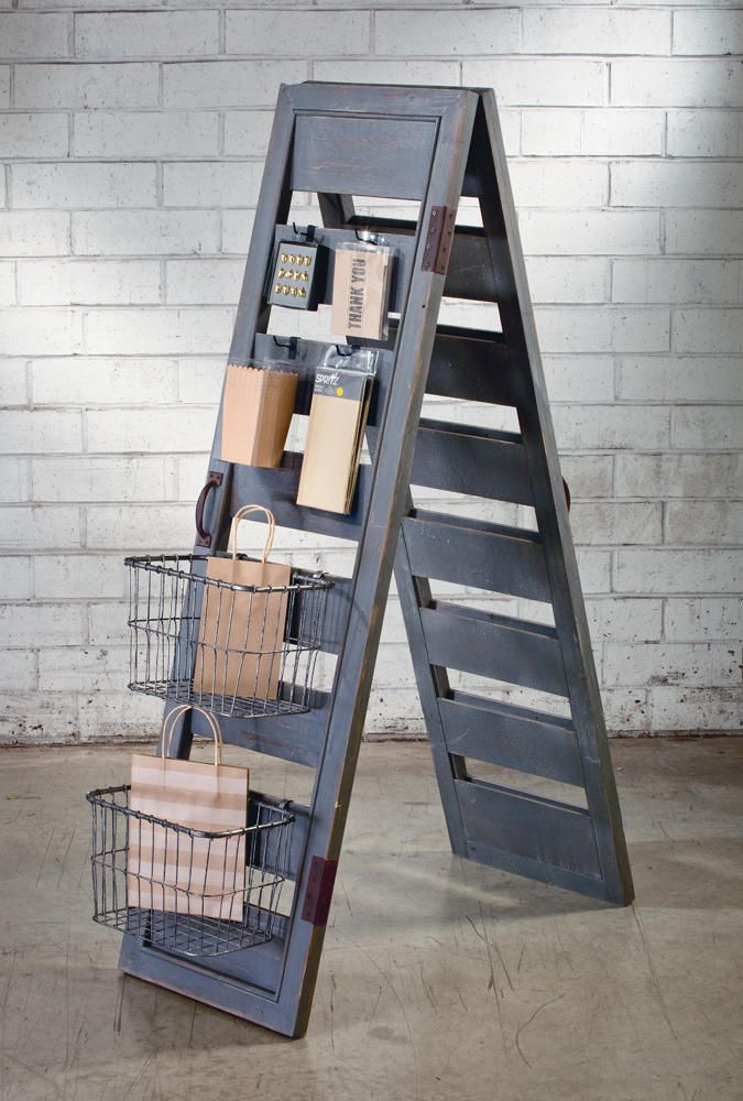 Add a rustic element to any space or display with this Shutter Ladder Display. Tripar offers a wide variety of unique display items and accessories!