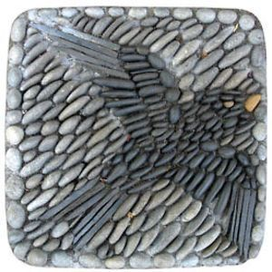 Kathleen Doody Pebble mosaic - bird by Stormdreamer