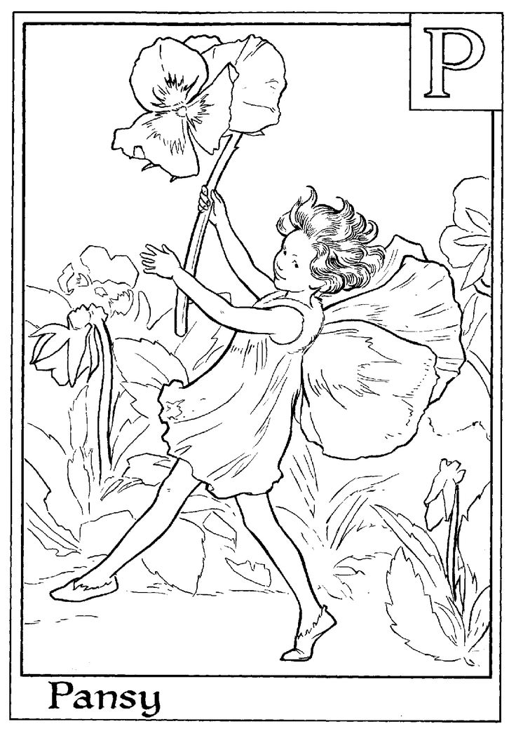 flower fairies coloring pages from wwwcoloring pages and morecomp_fairy - Coloring Pages Fairies Flowers