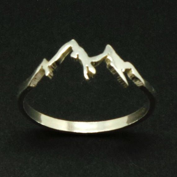 Silver Mountain Range Ring – Mountain Jewelry Jewellery, Ring Size UK United Kingdom and Australia B