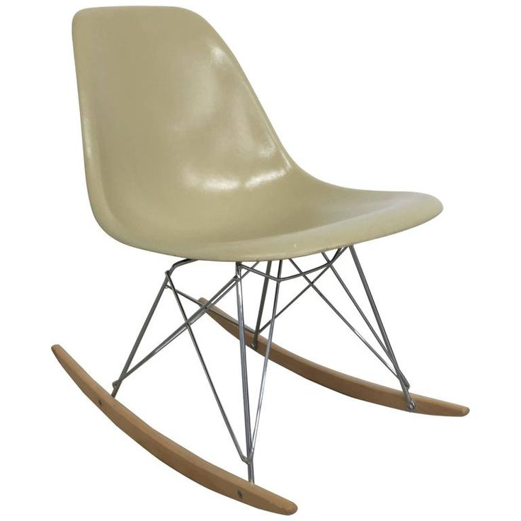 Eames Side Shell Rocking Chair   From a unique collection of antique and modern rocking chairs at https://www.1stdibs.com/furniture/seating/rocking-chairs/