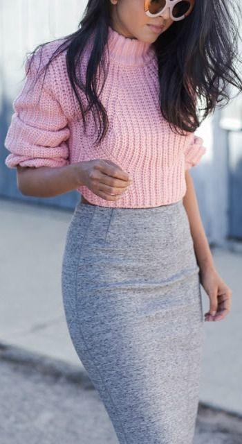 Grey + pink.