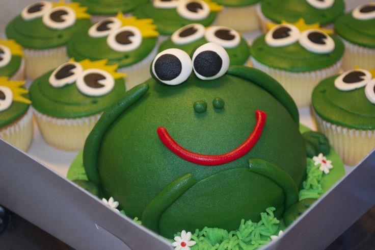 kikker meptaartje en kikker cupcakes