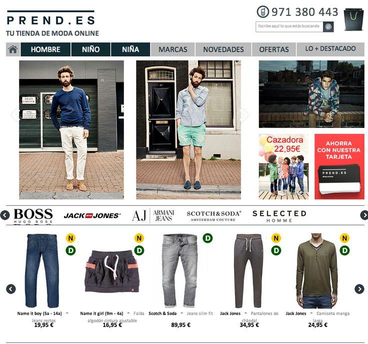 www.prend.es Tienda de Moda Online de Hombre, Niño y Niña