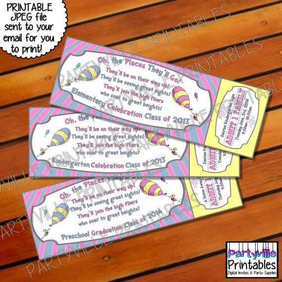 Dr. Seuss GRADUATION INVITE Ticket invite by ...