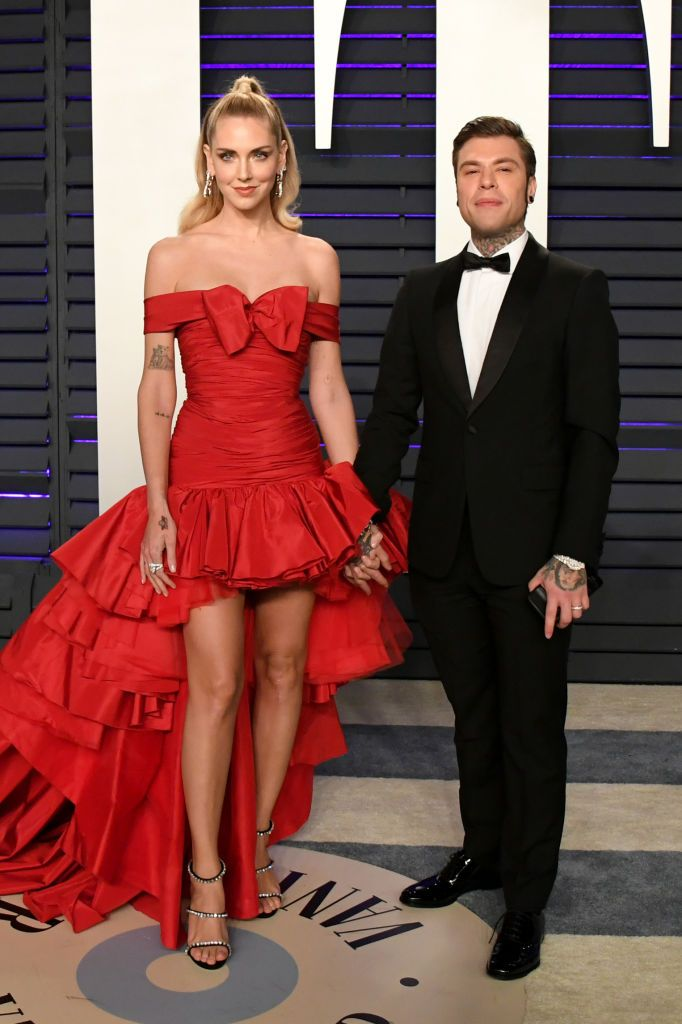 Chiara Ferragni And Fedez Attend The 2019 Vanity Fair Oscar Party Event Dresses Vanity Fair Oscar Party Naughty Outfits