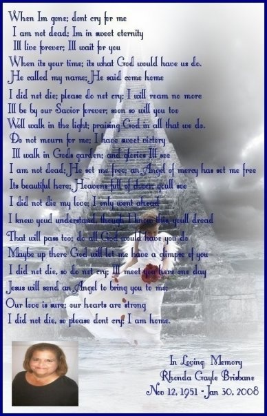 Another One In Memory Of My Mom With Poem I Did This For