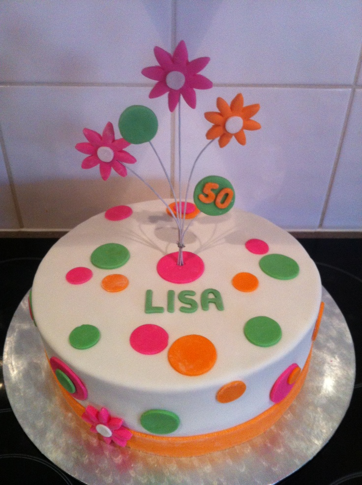 Simple Design For A Ladies 50th Birthday Cake My Cakes