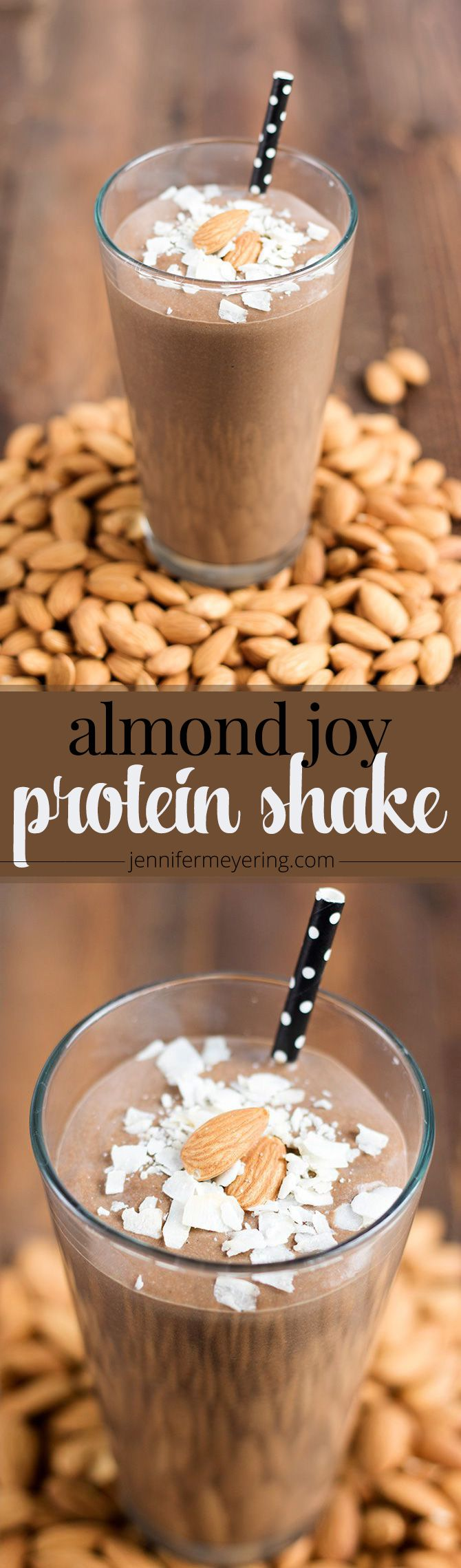 Almond Joy Protein Shake - JenniferMeyering.com