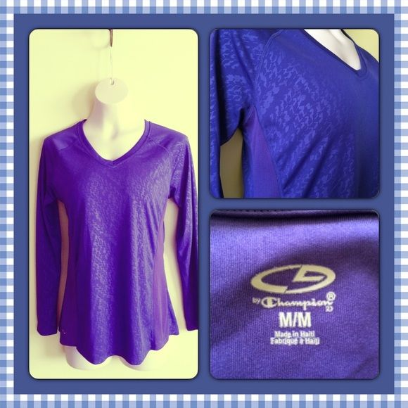 Champion Sportswear Top Purple top, 100% polyester. Champion Tops