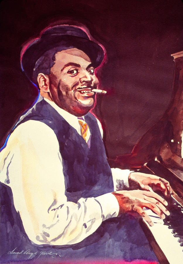 """David Lloyd Glover, """"Ain't Misbehavin' Fats Waller"""" - Many of Hollywood's A-list celebrities and recording stars are among his top collectors. For his many galleries, Glover has created images ranging from Impressionist landscapes to Iconic pop art images of Jazz artists and Rock stars.  David Lloyd Glover has a 25-year international reputation exhibiting in major galleries in the US, Canada, Mexico, and Japan. Since 1986 he has sold over 2,000 original paintings."""