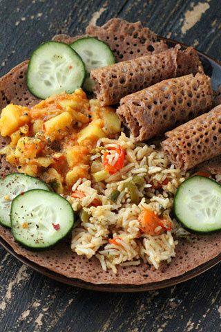 Injera (pan etíope) #teff #glutenfree
