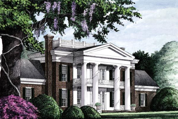 House plan 86283 colonial southern plan with 4293 sq ft for Southern colonial house plans