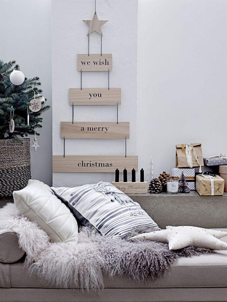 Ein Weihnachtsbaum kann auch an der Wand hängen (Foto bloomingville) http://landhaus-look.de/bloomingville-weihnachten-skandinavisch-cool/