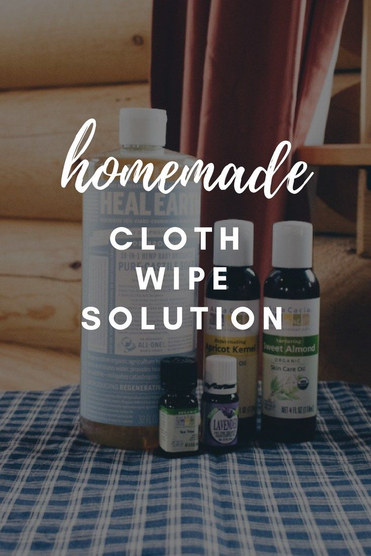 Diyhomemade cloth wipe solution for reusable wipes only