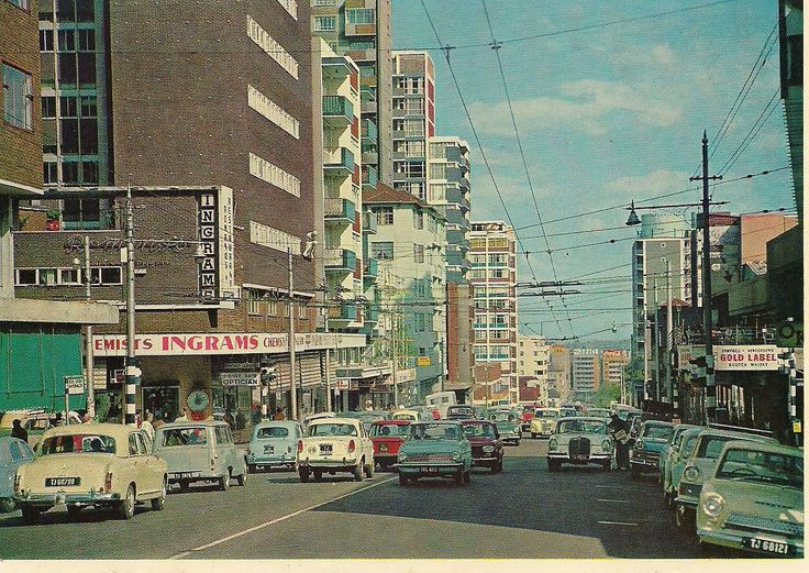 And a street scene in Hillbrow in the 1960's .