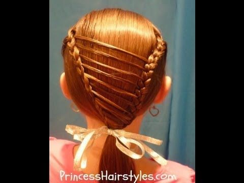 Stripe Overlay Braid, Unique Hairstyles For Girls - YouTube