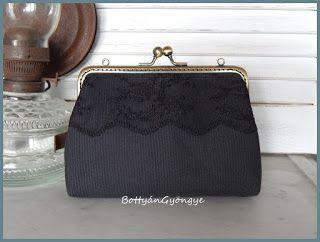 Fekete csipkés tárca / Black lace wallet