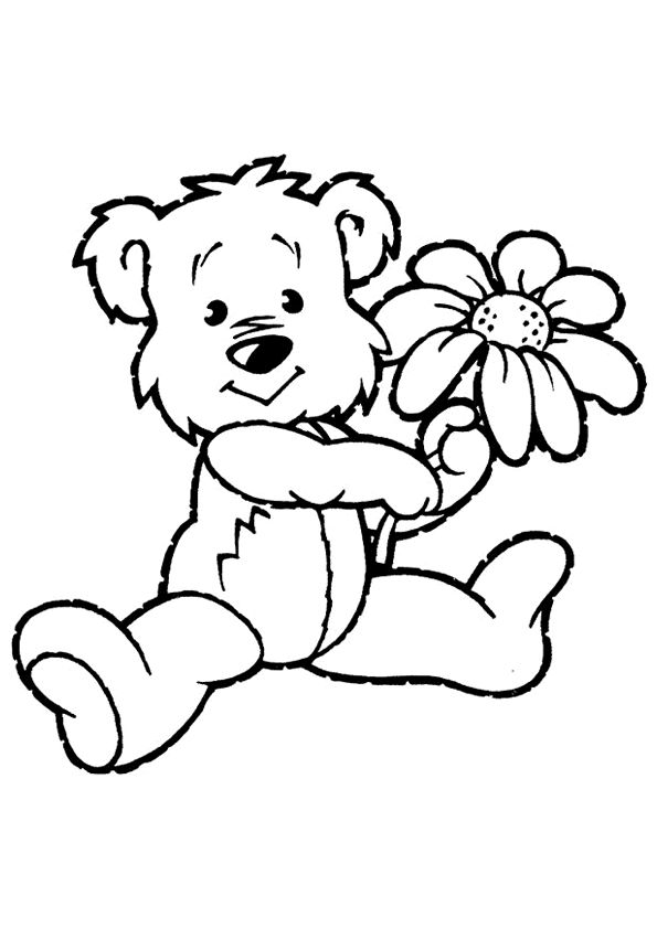 325 Best Coloring Teddy Images On Pinterest