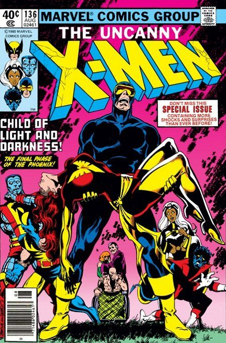 Discovered the Phoenix Saga when my dad's friend gave me his entire comic collection as a kid. Now how's that for a gift?! (Uncanny X-Men, Vol.1 #136: Cover by John Byrne, Terry Austin, and Jim Novak. August 1980 | Marvel)