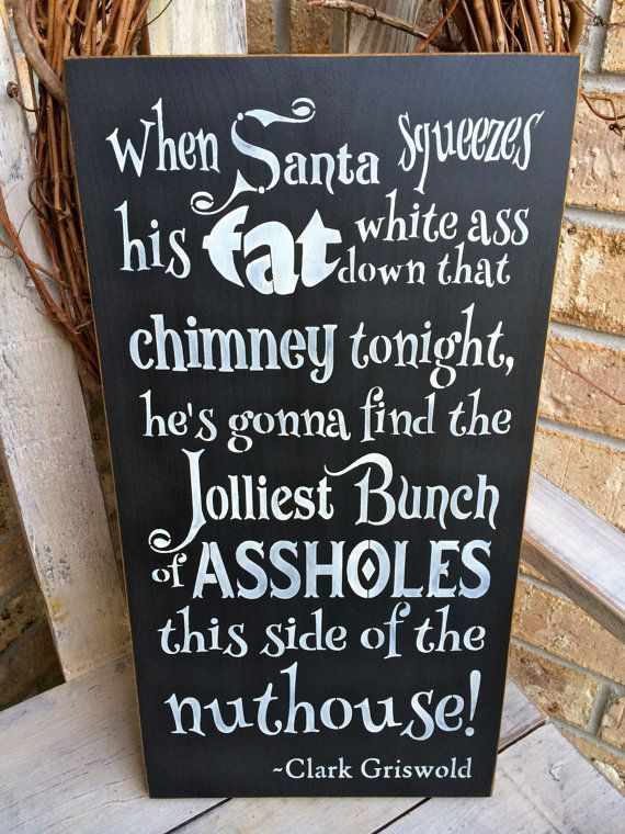 Primitive Christmas Vacation Clark Griswold Chalkboard Sign