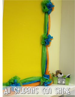 Genius idea!!! A how- to guide to making a tissue paper bulletin board! Cheap, cute, and easy...what's not to love!?!?