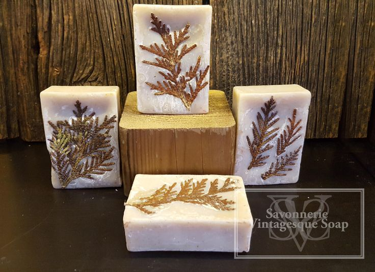 Cedar soap, artistic soap. natural leaf. cold process soap, hand crafted, artisan soap, wild garden creation by VintagesqueSoap on Etsy