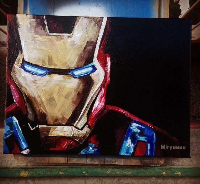 Marvel Painting Marvel Paintings Marvel Art Canvas Iron Man Painting