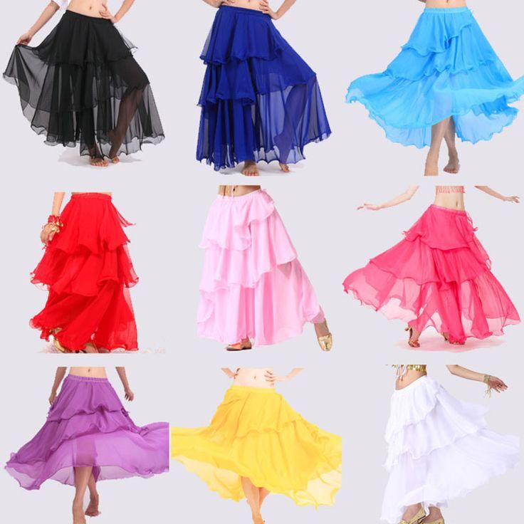 2017 Hot Popular Cheap Belly Dance Beautiful Skirt Chiffon for Women Belly Dancing Costume on Sale