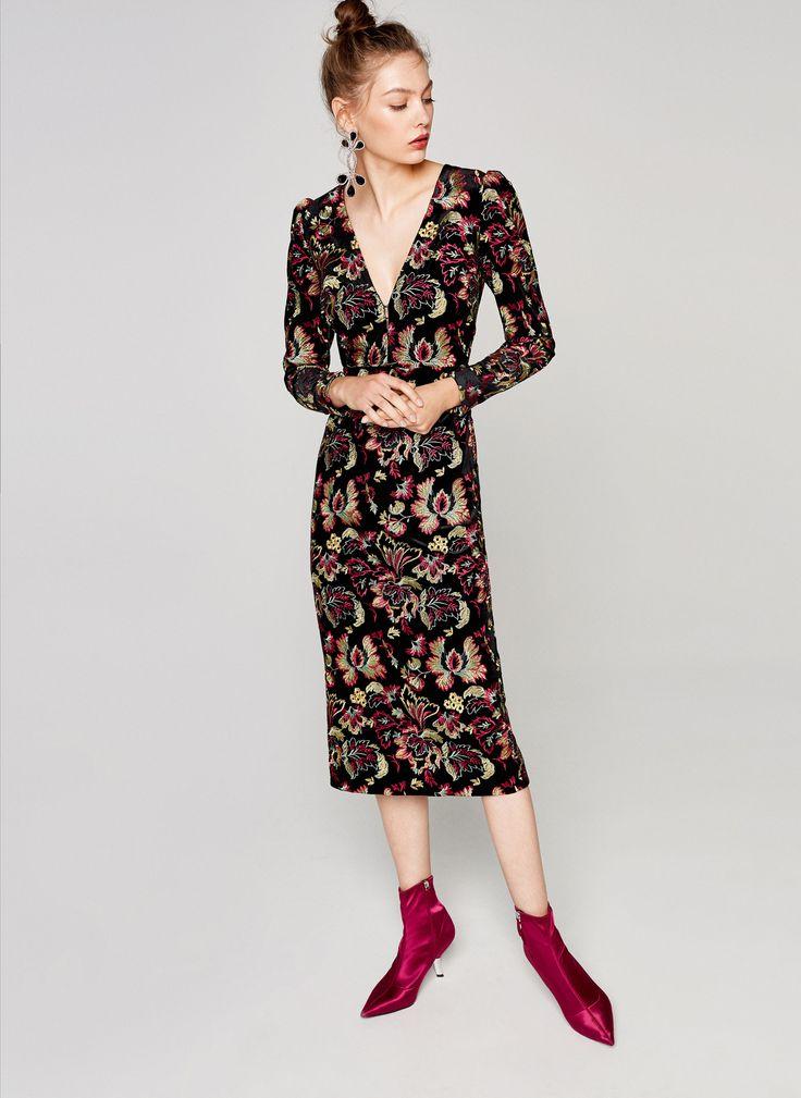 Uterqüe United Kingdom Product Page - Ready to wear - Dresses and Skirts - Jacquard dress - 150