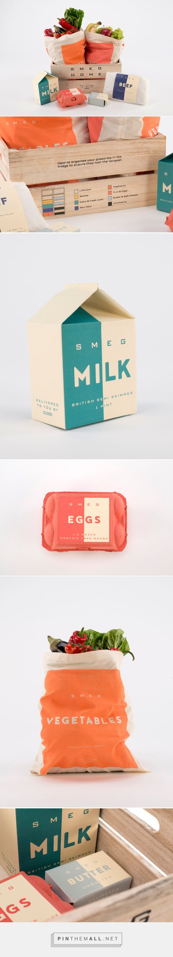 Smeg x Ocado Colour Coded Packaging (Student Project) - Packaging of the World - Creative Package Design Gallery - http://www.packagingoftheworld.com/2017/06/smeg-x-ocado-colour-coded-packaging.html