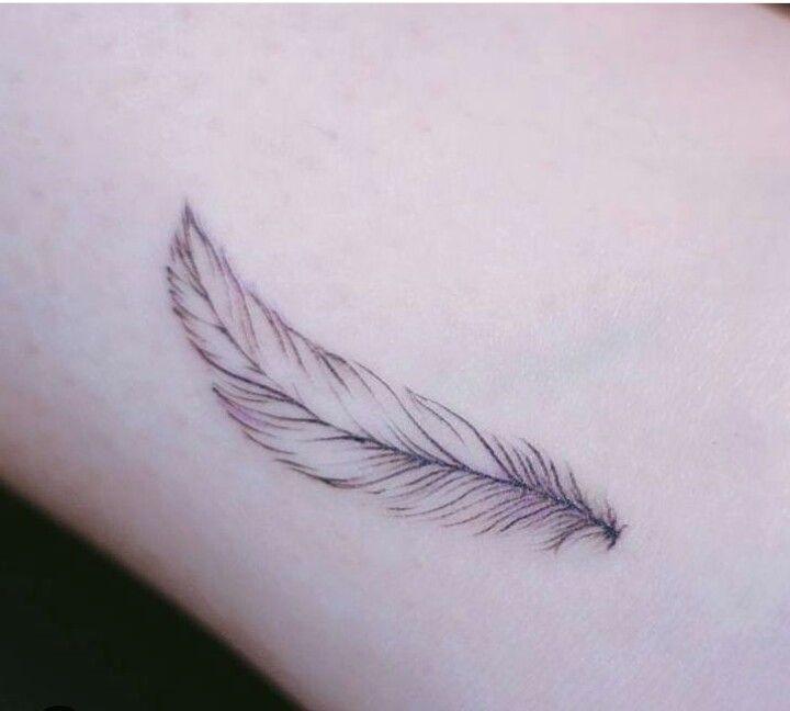 #tattoo #small #blackfeather #feather #girly