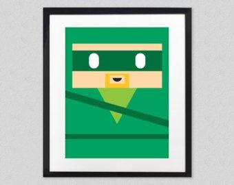 Flecha verde arte de pared para cuarto de niños o niños sala - Liga de la justicia minimalista Superhero Poster - Oliver Queen - cómic pared Decor - Mancave