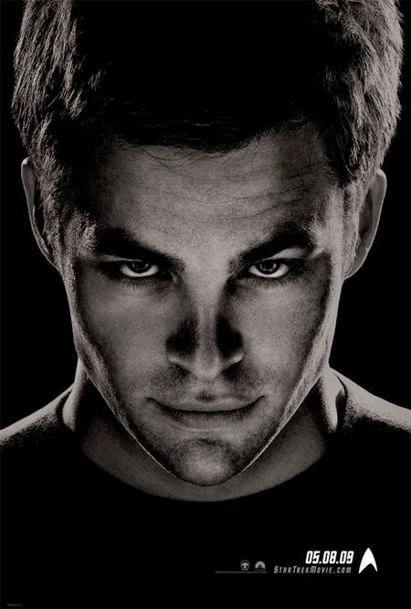 Another dramatic portrait Captain Kirk from the new Star Trek movie.
