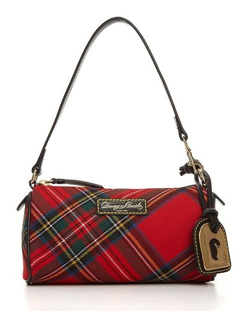Red tartan Dooney and Bourke hand bag.