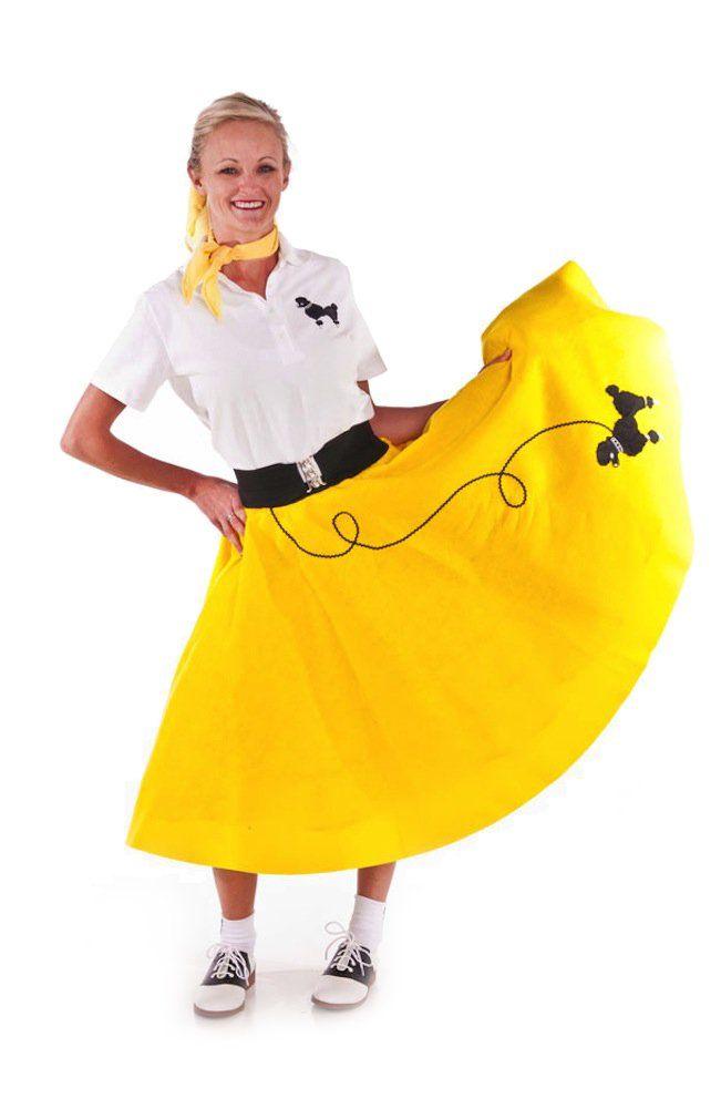 Amazon Hip Hop 50s Shop Adult 3 Piece Poodle Skirt Outfit
