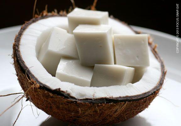 Haupia Recipe Desserts with coconut cream, sugar, corn starch, milk