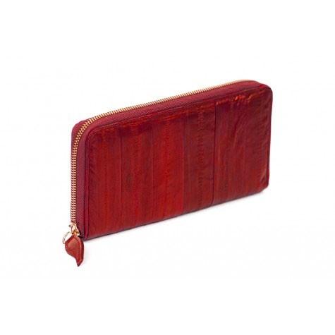 Makki Large Zip Wallet - Red