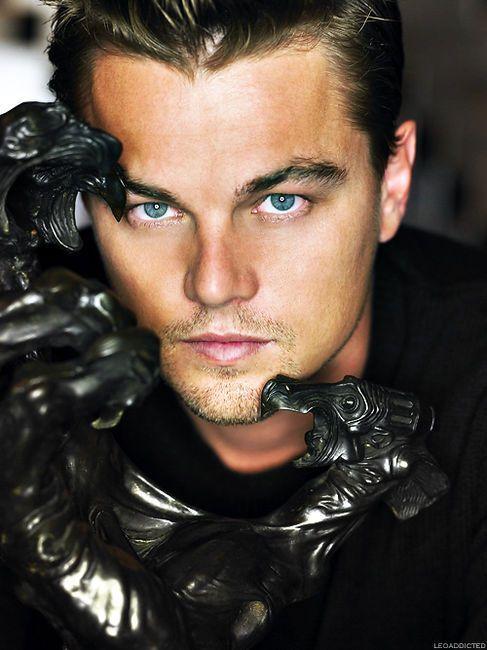 Leo's Beautiful Sea Foam Eyes  (leonardo dicaprio,eyes,sea foam,beauty,actor,photography)