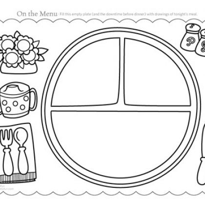 draw your dinner template for toddlers printable activities - Printable Activity