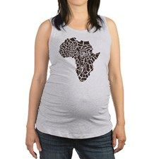 Africa in a giraffe camouflage Maternity Tank Top